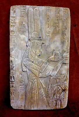 Ancient Egyptian Wall Plaque Queen Cleopatra Isis