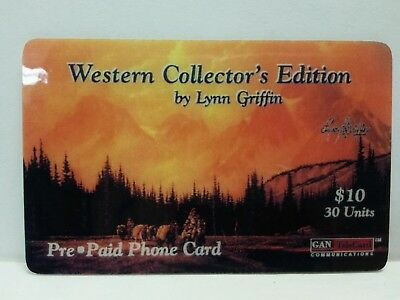 Western Collector's Edition by Lynn Griffin Used Pre Paid Phone Card