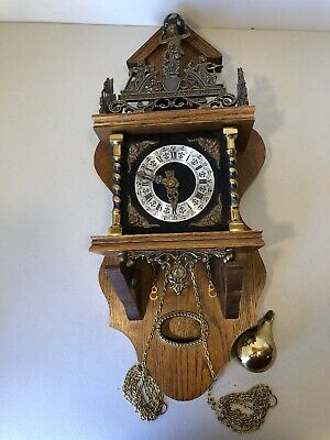 Vintage FHS Franz Hermle & Sohn Atlas Wall Clock Germany 261-080A
