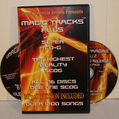 KARAOKE MAGIC TRACKS SUPER CD+G Includes MP3 1200 TRACKS IN BOX for CAVS OR PC