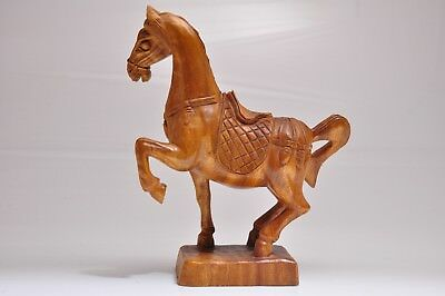 vintage large carved wood horse sculpture