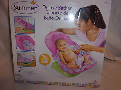 Summer Deluxe Baby Bather Sink or Bathtub Folds Compact Baby Accessory
