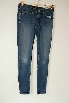 7321c18f61d LEVIS 524 TOO Superlow Womens Jeans 1 Dark Wash Low Rise Flare Flap ...