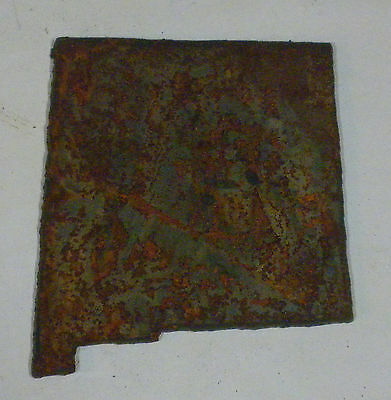 6 Inch NEW MEXICO State Shape Rough Rusty Metal Vintage Stencil Ornament Craft