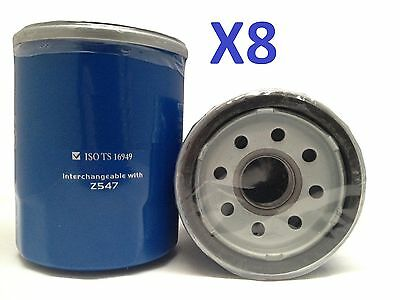 8x Oil Filter Suits Z547 NISSAN PATHFINDER WX SERIES VG33E 6CYL 3.3L 1996-1998