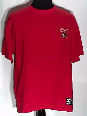 83b3d7243064 Georgia Bulldogs UGA Stitched NCAA SEC College Team Starter Large L Red T- shirt