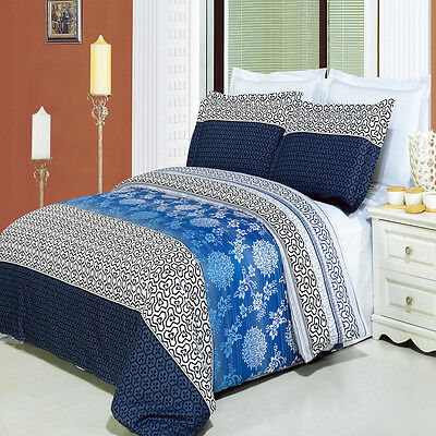 LUXURIOUS Lydia Printed 100% Egyptian Cotton Bed in a Bag - 4 Sizes