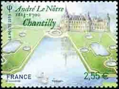 "TIMBRE FRANCE NEUF 2013 ""andré le notre chantilly"" Y&T 4752"
