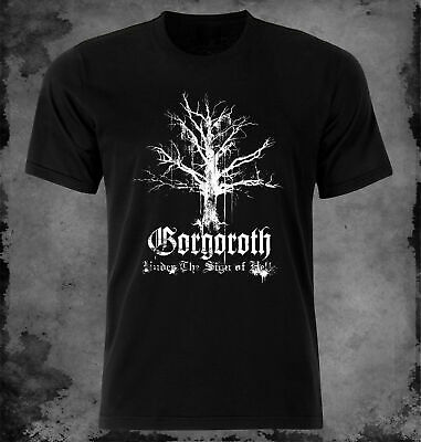 NEU-Gorgoroth-Under-The-Sign-Of-Hell Logo Black T Shirt M-3XL