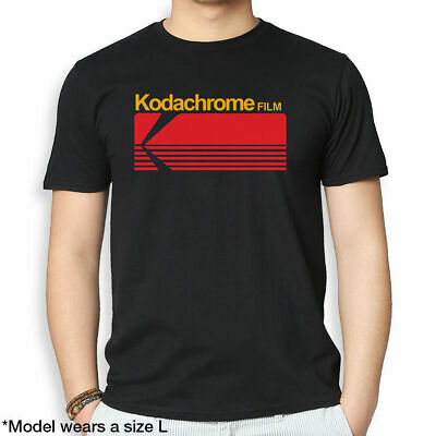 Classic Kodachrome Film Logo Photographer Photography Logo Black T Shirt M-3XL
