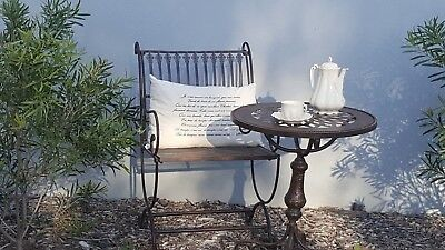 FRENCH garden antique brown table + 2 CHAIRS WROUGHT IRON  QUALITY NEW