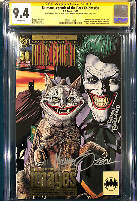 JIM LEE BRIAN BOLLAND MIKE ZECK LEGENDS DARK KNIGHT 50 SIGNED SS CGC Batman CBCS