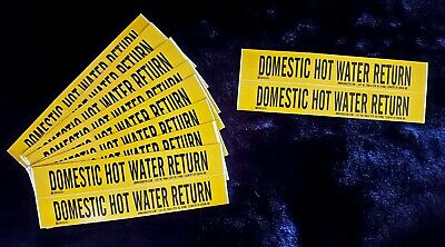 (20 CT) BRADY 7088-4 (91986) DOMESTIC HOT WATER RETURN Vinyl Stickers SHIPS FREE