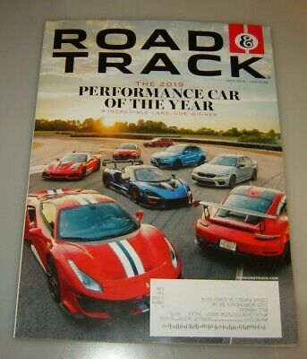 ROAD & TRACK MAGAZINE December 2018/January 2019 THE PERFORMANCE CAR OF THE YEAR
