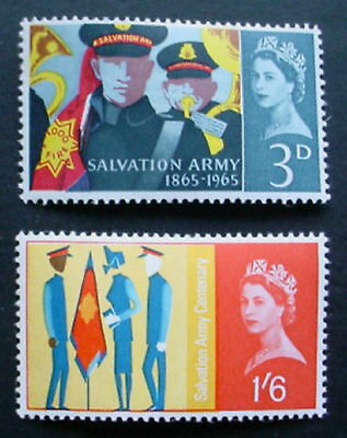 Great Britain 1965: Salvation Army Centenary: Set Of 2 Mnh Stamps