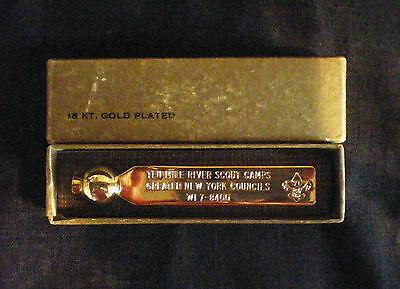 60's BOY SCOUTS 18K GP TEN MILE RIVER SCOUT CAMP GREATER NY COUNCILS ROTARY DIAL