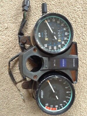 Kawasaki Z250 KZ 250 Speedo Clocks  Showing 17065 Miles