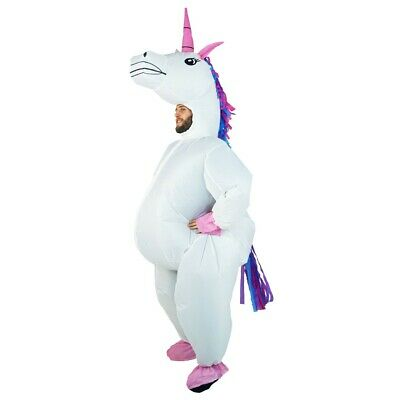 Bodysocks® Unicorn Fairy tale White Magical Rainbow Inflatable Costume Full Body