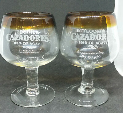Pair of Cazadores Tequila glasses in excellent condition