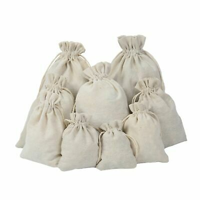 Cotton Plain Drawstring Small Sack Storage Gift Bags Laundry Bag Travel Pouch