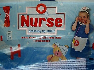 Girls Toddlers Nurse Dressing Up Uniform Outfit Fancy Dress Costume 3-6 Years