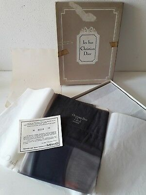 Christian Dior le bas nylon Delfion collant box 5 paia taglia 9.5 vintage