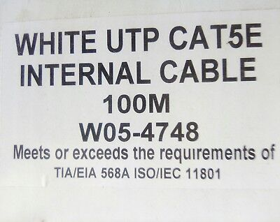 **Box 100m white UPT CAT5E internal cable**