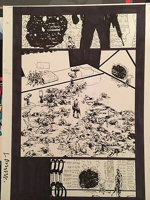 Original Comic Art Punisher Max Vol11 Girls In White Dresses Page Rare