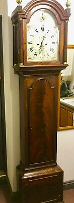 Exceptional Georgian Mahogany Longcase Grandfather Clock