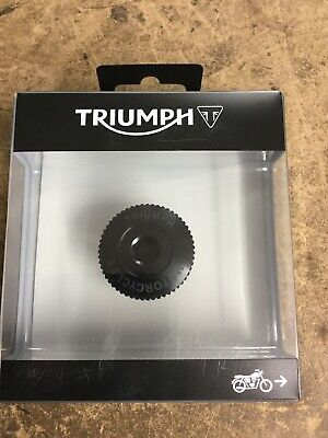 Triumph Thruxton 1200, T120, Street Twin CNC Black Oil Filler Cap NEW 2016-19