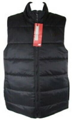 NEW BALANCE MEN'S BLACK QUILTED PUFFER VEST Sz S(SMALL), #NBMV83961