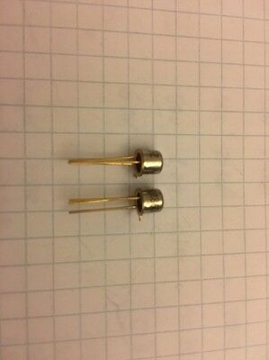 2x Transistor 2N2369A NPN 15V 0,5A TO18 - Semiconductor - Transistoren - NOS