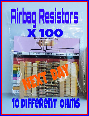 100 x Airbag Resistors Bypass tool Emulator  MIXED TRADE PACK delete remove seat