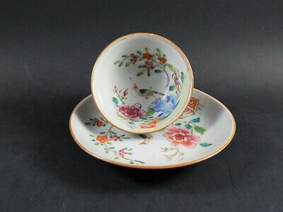 The Carl Crossman Chinese Export Famille Rose Batavia Brown Teacup & Saucer 1740