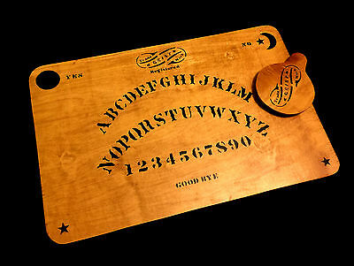 Wooden Ouija Board Set with Planchette Antique Kennard Handmade Replica Vintage