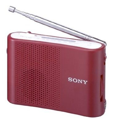 New ICF-51R Official SONY FM/AM handy portable radio (Red) �œWith Track