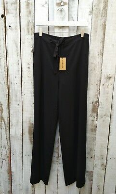 Jaeger Black Wool Front Tie Trousers Size: 10 / Was Selling At John Lewis