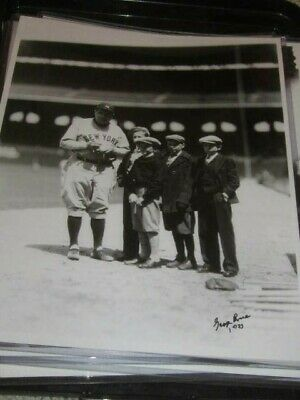 Babe Ruth New York Yankees Baseball Original George Brace* 11x14 Photo w/Fans