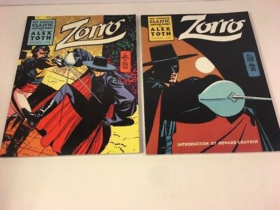 The Complete Classic Adventures Zorro by Alex Toth Vol. 1 & 2 Trade Paperbacks J