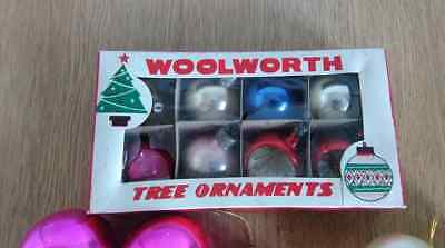 Job Lot Vintage Glass Christmas Decorations Woolworths 50S 60S Boxed