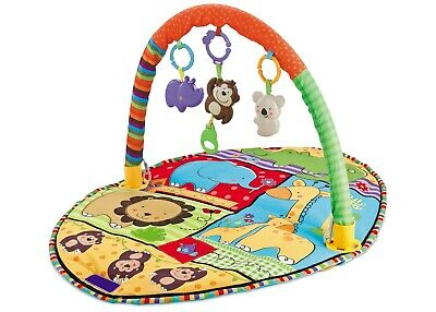 Baby Gym Lay & Play Jungle Activity Animal Play Mat With Sensory Toys