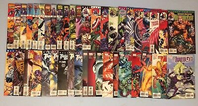 Thunderbolts 42 issue collection between 7 and 98 Marvel Comics 1997-2006 VF/NM