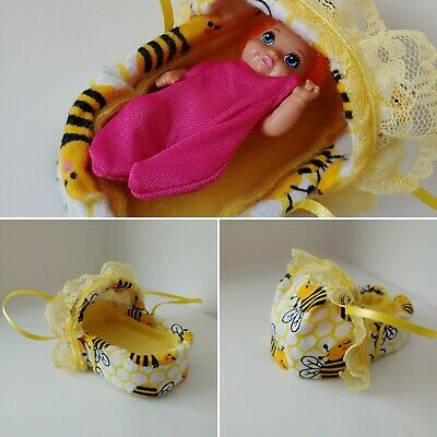 Winnie The Pooh Carrier Bassinet Krissy Doll Barbie Skipper Babysitters Inc