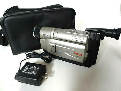 RCA VHS CAMCORDER CC6364 400X DIGITAL with Case - Works Great! No Charger