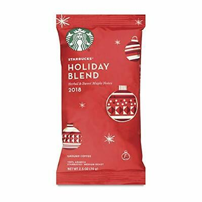 HUGE LOT OF 64 Starbucks Holiday Blend Ground Coffee Packs 2.5 oz each BBD 3/19