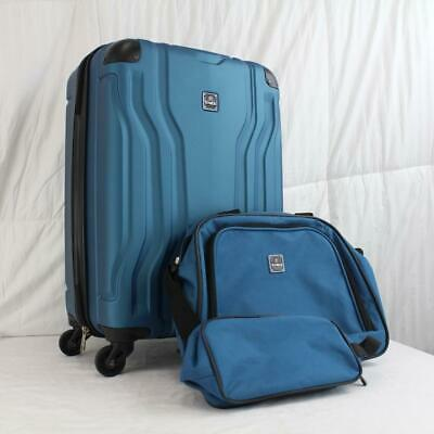Tag Legacy 3 Piece Hardside Spinner Carry On Luggage Set Blue Teal