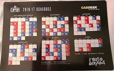 2016-17 Los Angeles Clippers schedule magnet