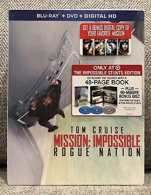 MISSION IMPOSSIBLE ROGUE NATION TARGET EXCLUSIVE blu ray BOOKLET SLIPCOVER MINT