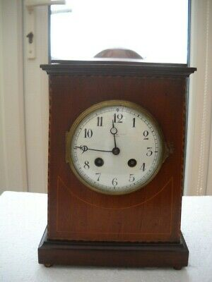 A Nice Mahogany French Mantel Clock By Samuel Marti In G.w.o.