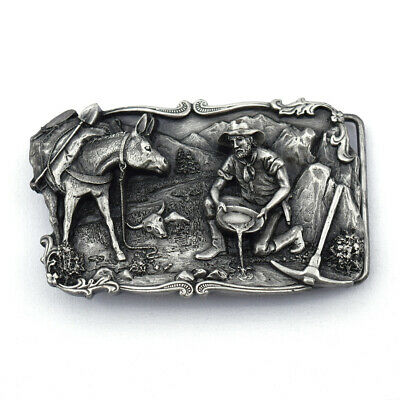 SISKIYOU LEATHER and ARROYO GRANDE 1981 Gold Miner Mule B-10 Pewter Buckle